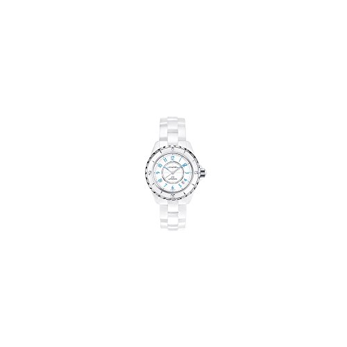 Chanel Women's Swiss Automatic Ceramic Casual Watch, Color:White (Model: H3827)
