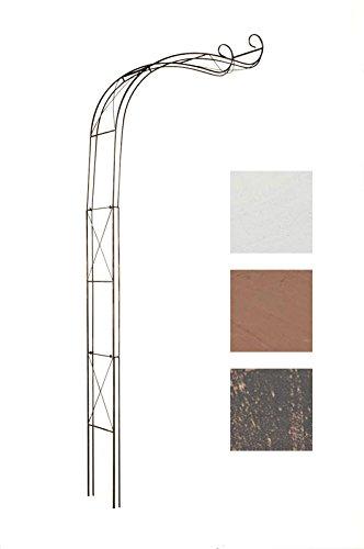 CLP Halbbogen, Rosenbogen EDOARDO halbrund, Eisen, Wand-Rankhilfe Durchganghöhe/-breite: 330 cm / 116 cm bronze