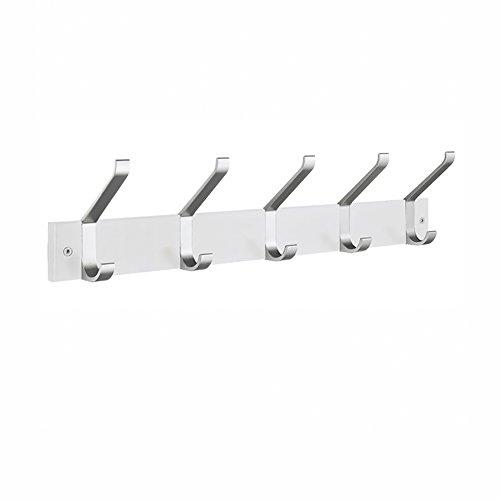 Smedbo 5 Hook Rack Brushed Aluminium White MDF BX1074 ()
