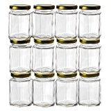 (GoJars Hexagon Glass Jars for Gifts, Weddings, Honey, Jams, and More (12,)