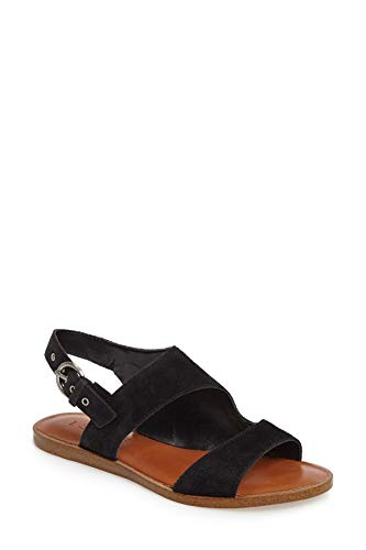 1.State Womens Calen Suede Sandal Black