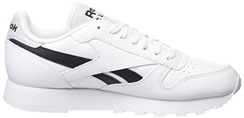 Reebok Classic Leather Pop, Zapatillas Unisex Adulto Blanco (White/Black)