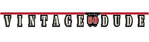 Creative Converting Vintage Dude 50th Birthday Jointed Letter Banner -