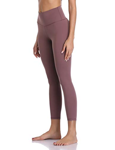 Colorfulkoala Women's Buttery Soft High Waisted Yoga Pants 7/8 Length Leggings (XL, Dusty Red)