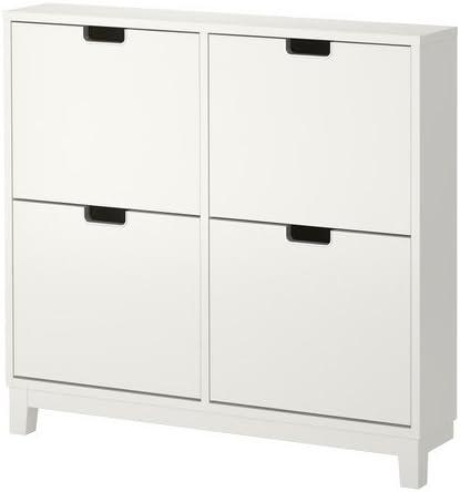 IKEA PARADA - Mueble para zapatos con 4 compartimentos, blanco - 96x90 cm