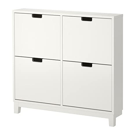 IKEA Shoe Cabinet with 4 compartments, White 37 3/4x35 3/8