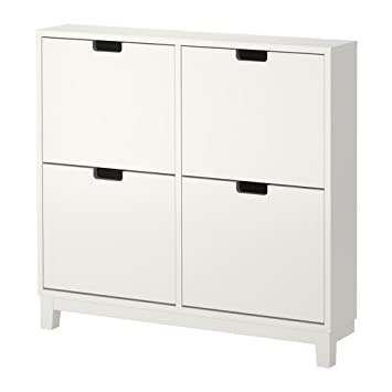 Ikea STÄLL Shoe Cabinet With 4 Compartments, White Part 90