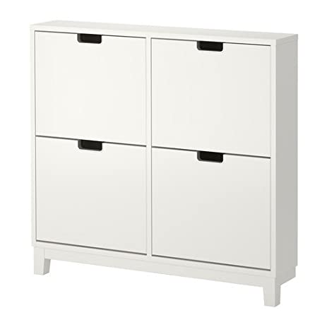 Ikea STÄLL Shoe Cabinet With 4 Compartments, White