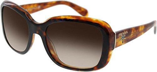 Prada 17PS NAK6S1 Light Havana 17PS Swing Square Sunglasses Lens Category - Swing Sunglasses