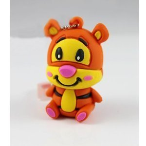 (16GB Disney Tigger Shaped Cute Cartoon USB Flash Drives, Data Storage Device, USB Memory Stick Pen, Thumb Drive)