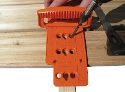 JIG-A-DECK Deck Spacer & Fastener Alignment Guide for Hardwood, Composite, PVC and Pressure Treated Decking (2 PACK)