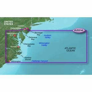 Garmin BlueChart g2 Vision Atlantic City to Wilmington Saltwater Map microSD Card