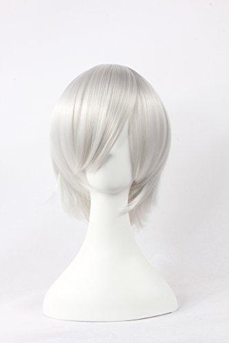 Jigoku Shoujo Cosplay Costumes (Coolsky Wigs Neon Genesis Evangelion,Light Katekyo Hitman Reborn,Jigoku Shoujo Silber White Cosplay Wig)