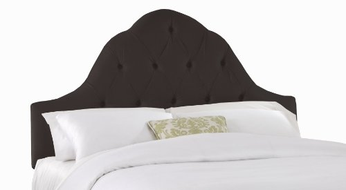 Skyline Furniture Kostner Arched Twin Headboard, Shantung Black