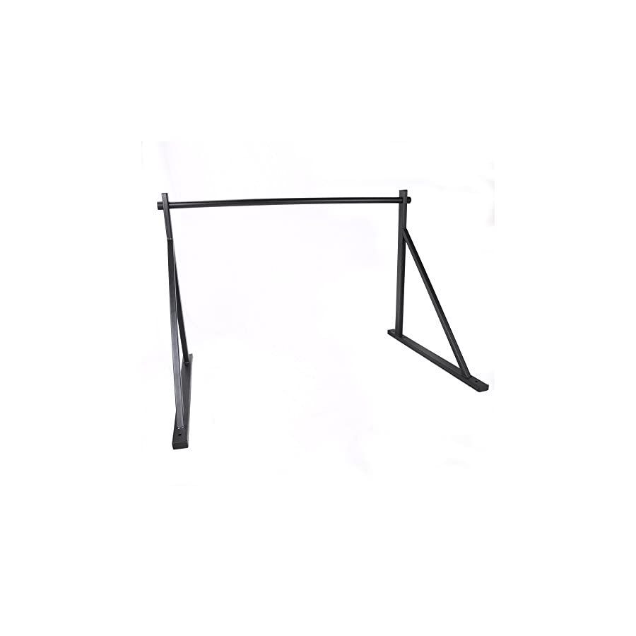 ECOTRIC 50'' Heavy Duty Wall Mounted Chin Pull Up Bar Gym Workout Fitness Home Mount Fitness 500lbs With One Year Warranty