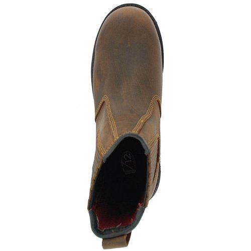 V-Tech V12 RANCHER CHELSEA Echt-Leder Goodyear rahmengenähte unisex Einschlupf Schuhe V1261 BROWN braun