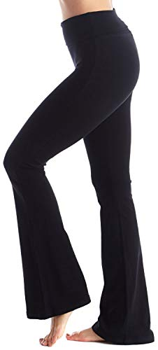 Viosi Wome 250gsm Fold Over Cotton Yoga Pants