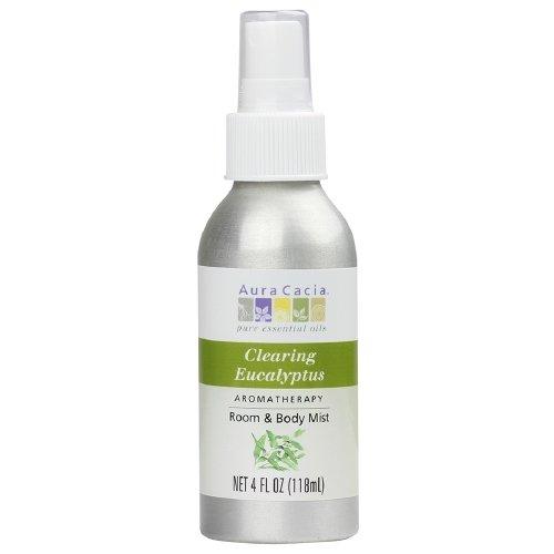 Aura Cacia Aromatherapy Room & Body Mist, Clearing Eucalyptus 4 fl oz (118 ml)(3 PK) by Aura Cacia