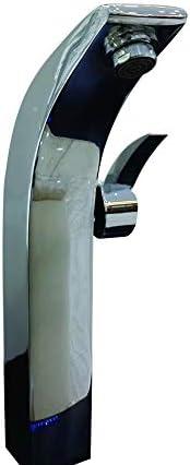 家庭用浴室の蛇口 誘導蛇口調整水温ステンレスの蛇口 浴室の台所の蛇口 (Color : Silver)