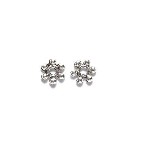 Shipwreck Beads Zinc Alloy Spacer Bead with 6 Balls, 2 by 8mm, Silver, 300-Pack ME5403-S