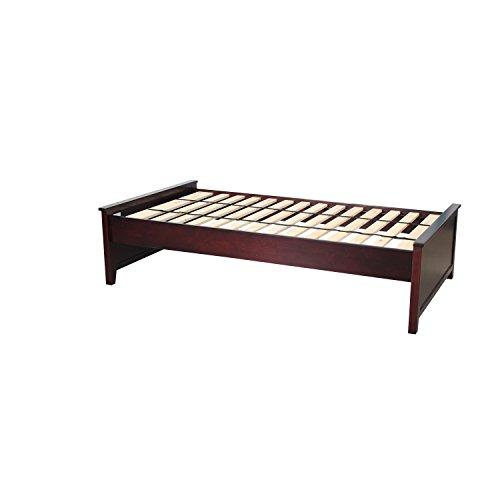 Plank & Beam c13 Low Profile Platform Bed, Twin, Espresso (Plain Rail Box)