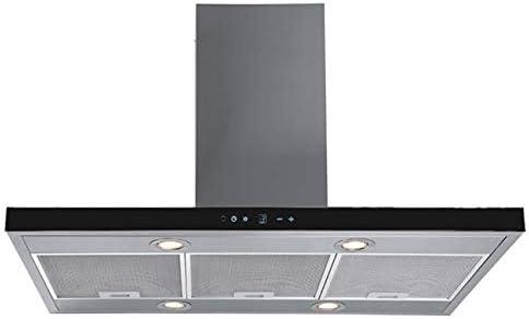 Campana extractora F.BAYER ENA IS90EGS ECO, 90 cm, acero inoxidable, cristal negro, 700 m3/h, eficiencia energética B LED: Amazon.es: Grandes electrodomésticos