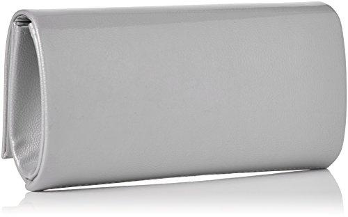 Costa Damen Leighton Clutch, Grau (grigio), 6x10x20,6 Centimetri