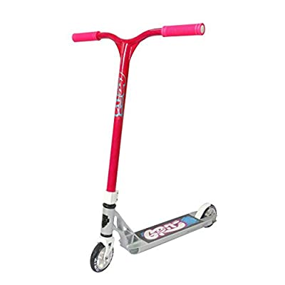 Grit Fluxx Pro Scooter (Silver/Laser Pink) - Stunt Scooter - Trick Scooter - Intermediate Pro Scooter - for Kids Ages 6+ and Heights 4.0ft-5.5ft : Sports & Outdoors