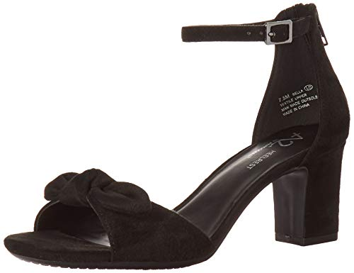 Aerosoles A2 Women's Bella Heeled Sandal, Black Fabric, 8 M US
