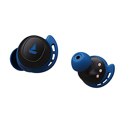 boAt Airdopes 441 TWS Ear-Buds with IWP Technology, Immersive Audio, Up to 30H Total Playback, IPX7 Water Resistance, Super Touch Controls, Secure Sports Fit & Type-C Port(Sporty Blue)