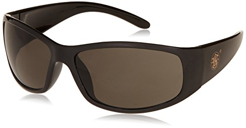 Smith and Wesson Safety Glasses (21303), Elite Safety Sunglasses, Smoke Anti-Fog Lenses with Black - Sunglasses Save