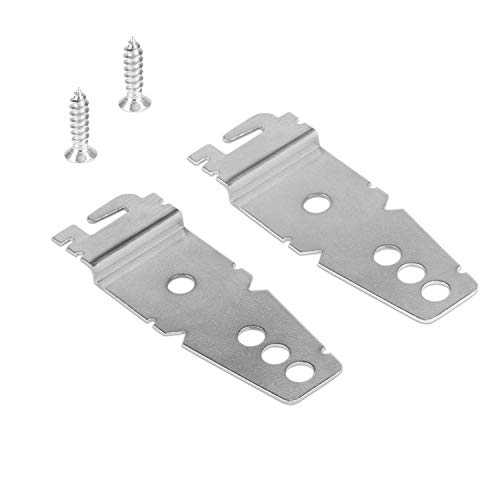 Dishwasher Mounting Bracket Whirlpool Kit 2 Pack + 2 Mounting Screws - Undercounter Dishwasher Brackets Compatible with Whirlpool/Kenmore/Kitchenaid/Maytag/Amana (Bracket Mounting Hardware)