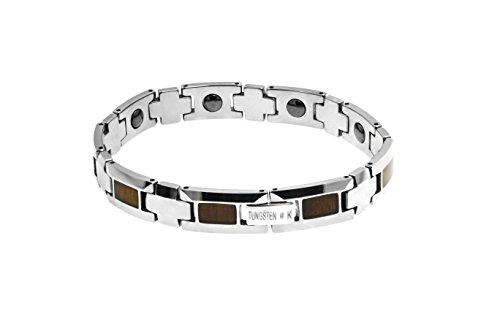 Honolulu Jewelry Company Koa Wood Tungsten Link Bracelet