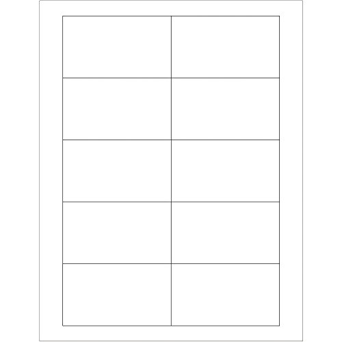 Labels Inventory Rectangle White (Rectangle Laser Labels/Stickers, 3 1/2