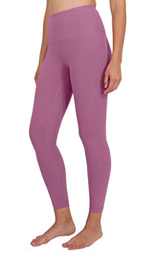 90 Degree By Reflex High Waist Power Flex Legging - Tummy Control - French Pink Ankle - Small