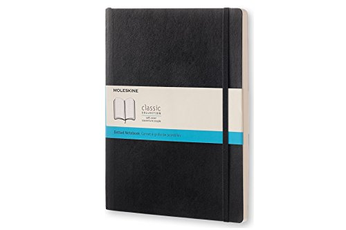 Moleskine Notizbuch, Groß, Punktraster, Soft Cover, schwarz