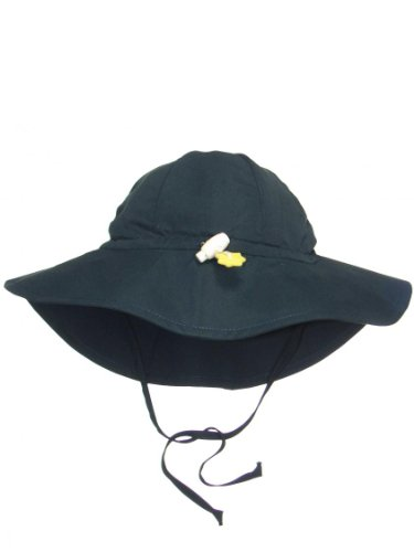 Iplay Baby Infant Toddler Unisex UPF 50 Solid Brim Sun Hat / Beach Hat by Iplay - Navy - 0-6 Mths