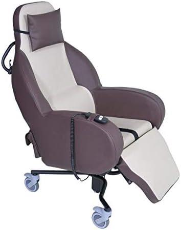 Sillón geriátrico basculante de interior, asiento de rebalta eléctrica integrada,