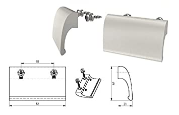 Silber eloxiert - F1 MS Beschl/äge Balkongriff Ziehgriff Terrassent/ürgriff Deluxe diverse Farben Aluminium