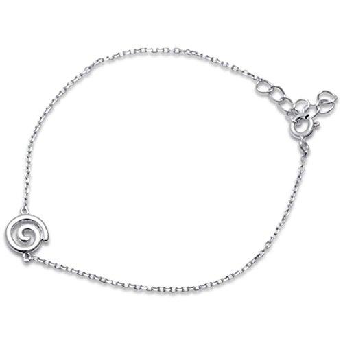 Silver Sterling Bracelet Spiral (Blue Apple Co. Fashion Swirl Spiral Bracelet 925 Sterling Silver)