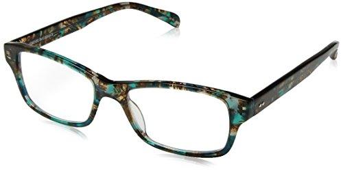 Corinne McCormack Women's Jess Square Reading Glasses, Aqua, - Reading Aqua Glasses