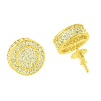 Round Design Unisex Earrings Yellow product image