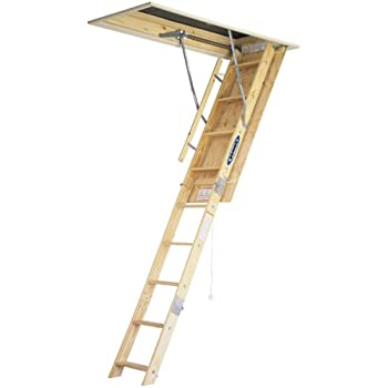 Werner W2508 250 Pound Duty Rating Wood Folding Attic