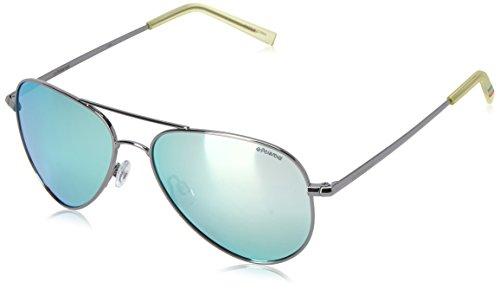 Polaroid Sunglasses Pld6012n Aviator, Ruthenium/Gray Silver Mirror Polarized, 56 - Aviator Polaroid Sunglasses