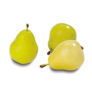 FloraCraft 9 Piece Decorative Mini Fruit Yellow/Green Pear 2