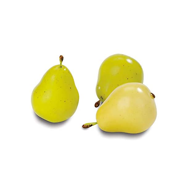 FloraCraft-9-Piece-Decorative-Mini-Fruit-YellowGreen-Pear