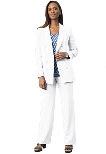 Bargain Catalog Outlet Jessica London Plus Size Double-Breasted Pantsuit - Breasted Double Suit Skirt
