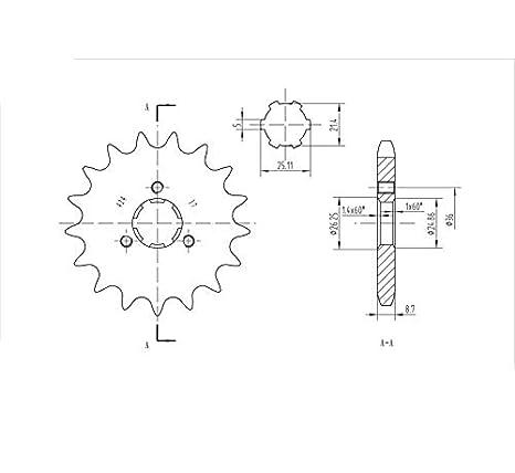 Amazon com: BikeMaster Front 17 Tooth Sprocket for Yamaha