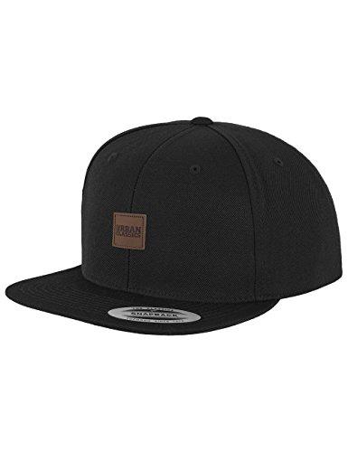 Unisex Scozzese Snapback adulto Urban black Basco Classics Nero Leatherpatch IXzqgz