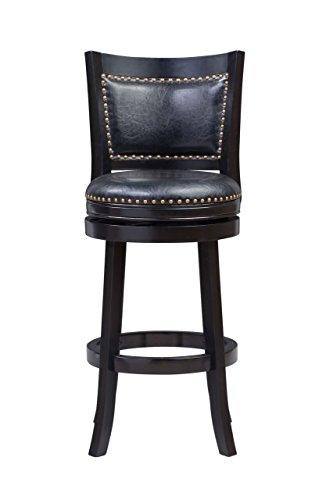 Boraam 42529 Bristol Bar Height Swivel Stool, 29-Inch, Black (Swivel 29 Inch High Seat)